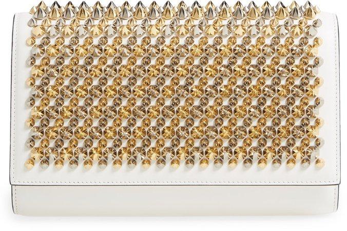 Paloma Spike Leather Clutch
