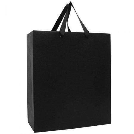 black kraft gift bag