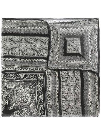 Etro Paisley-Print Scarf 100105598 Black | Farfetch