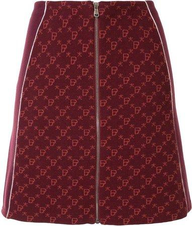 Bapy Knitted Zipped Skirt