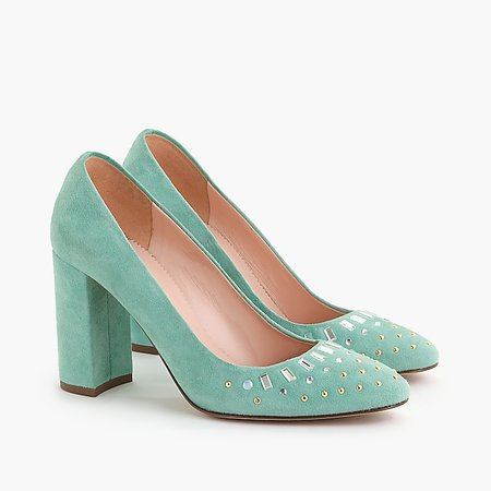 Pumps in embellished suede - Women's Footwear | J.Crew
