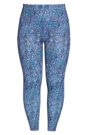 Zella Live In High Waist Ankle Leggings blue