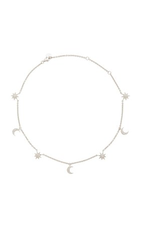 18K White Gold Diamond Necklace by Shay | Moda Operandi