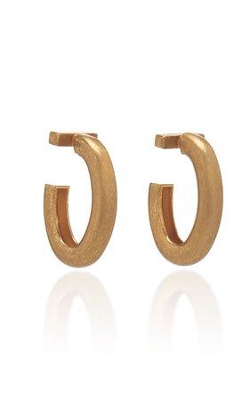 Gold-Plated Hoop Earrings by Marni | Moda Operandi