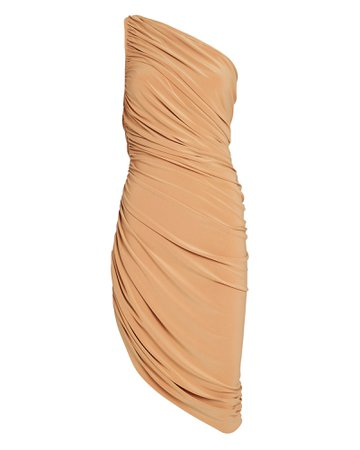 Norma Kamali | Diana Ruched One-Shoulder Dress | INTERMIX®