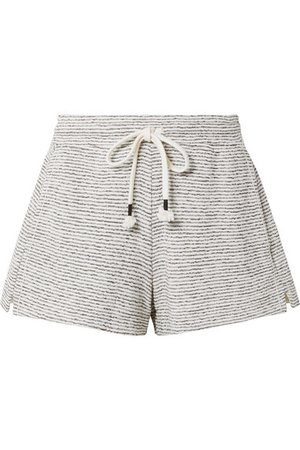 Skin   Teeghan striped Pima cotton and modal-blend pajama shorts   NET-A-PORTER.COM
