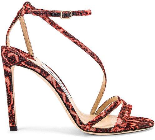 Tesca 100 Sandal in Mandarin Red Mix | FWRD