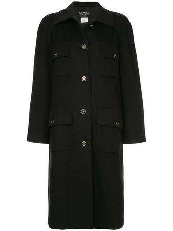 Chanel Vintage Cashmere multi-pockets Midi Coat - Farfetch