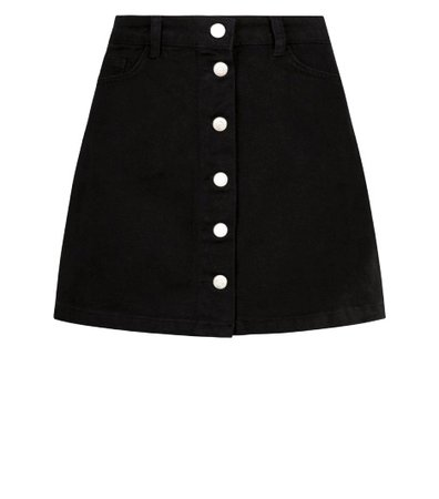 Black Rotunda Butti Skirt
