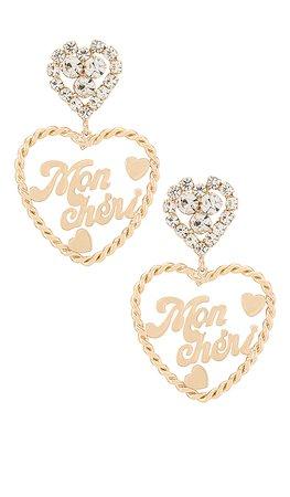 DANNIJO Doreen Earrings in Gold | REVOLVE
