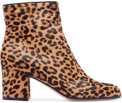 Margaux 65 Leopard-print Calf Hair Ankle Boots - Leopard print
