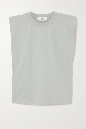 Eva Cotton-jersey Tank - Light gray