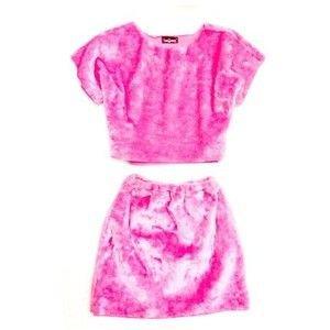 Neon pink furry/fuzzy two set