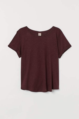 H&M+ Modal-blend T-shirt - Red