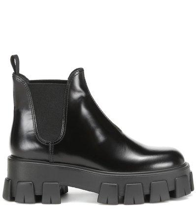 Leather Ankle Boots   Prada - Mytheresa