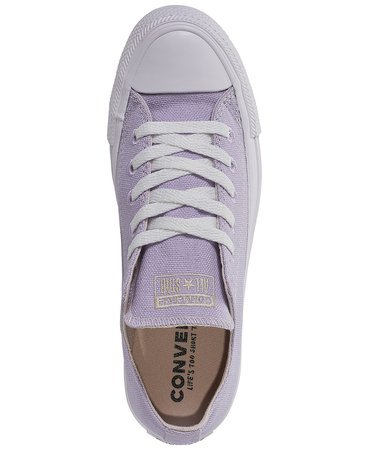 Converse Women's Chuck Taylor All Star Renew Low Top Casual Sneakers from Finish Line & Reviews - Finish Line Athletic Sneakers - Shoes - Macy's lilac