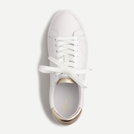 J.Crew: Saturday Sneakers In Leather With Gold Detail For Women