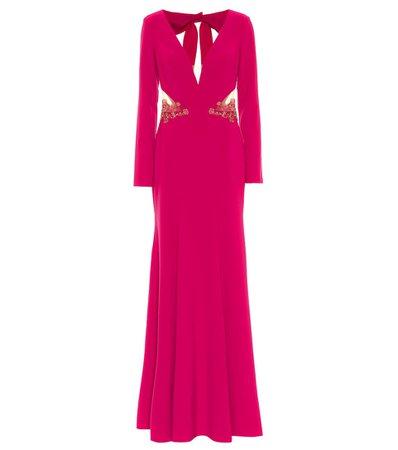 Marchesa Notte - Embellished stretch-crêpe gown | Mytheresa