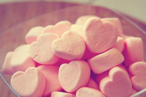 Strawberry Marshmallow HEART pink aesthetic