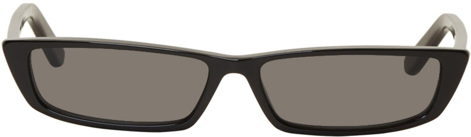 Balenciaga  Black Thin Rectangular Sunglasses €430 EUR
