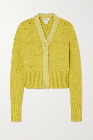 Yellow Wool and cashmere-blend cardigan   Bottega Veneta   NET-A-PORTER