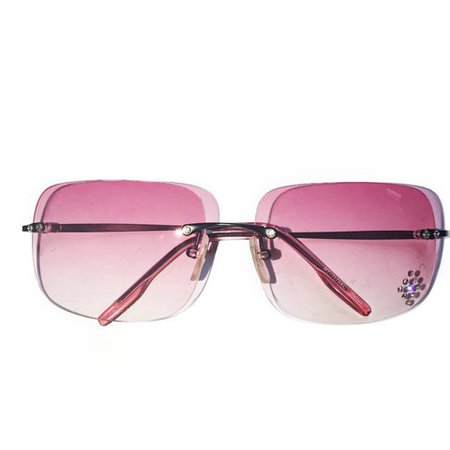 #90s - #2000s crystal lens glasses in pretty pink w the infamous rhinestone sparkle star in the corner