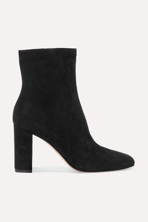 70 Suede Ankle Boots - Black