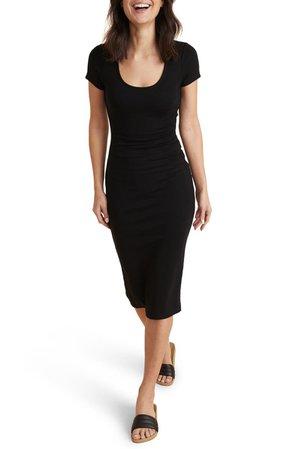 Marine Layer Lexi Ribbed Body-Con Midi Dress | Nordstrom