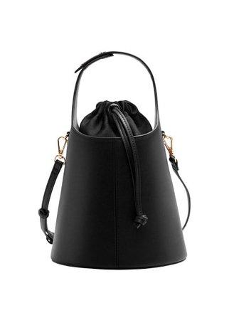 MANGO Pebbled bucket bag
