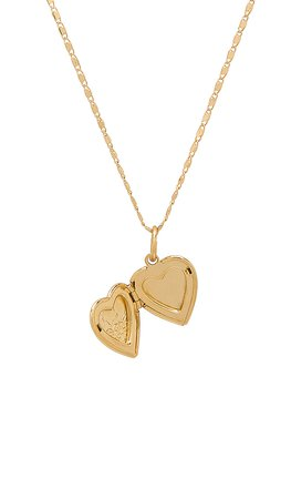 Vanessa Mooney The Heart Locket Necklace in Gold | REVOLVE