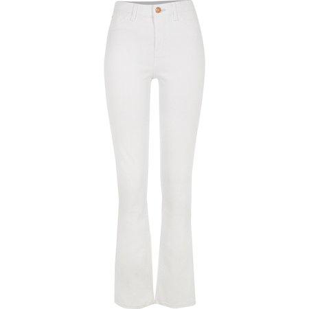 White bootcut jeans   River Island