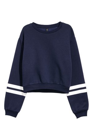 Short Sweatshirt | Dark blue | WOMEN | H&M US