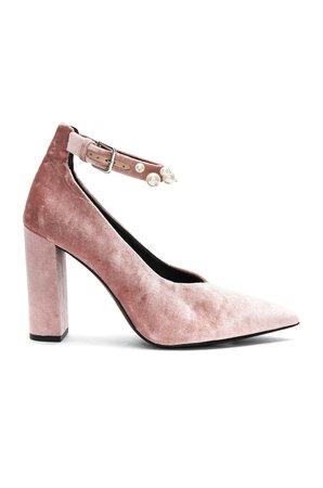 Isla Heel In Dusty Rose Velvet Pearl