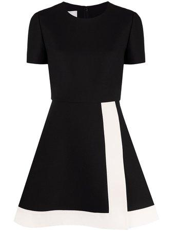 Valentino colour block flared dress black UB3VASJ61CF - Farfetch