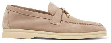Summer Charms Suede Loafers - Mushroom