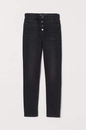 Skinny High Waist Jeans - Black
