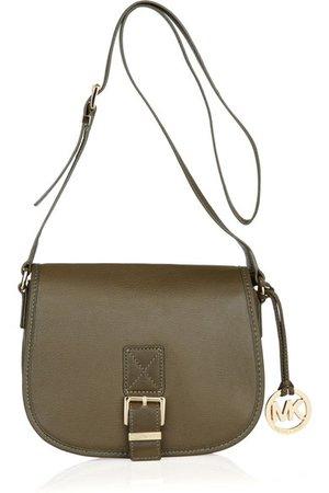 MICHAEL Michael Kors   Leather saddle bag   NET-A-PORTER.COM