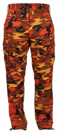 Orange camouflage pants