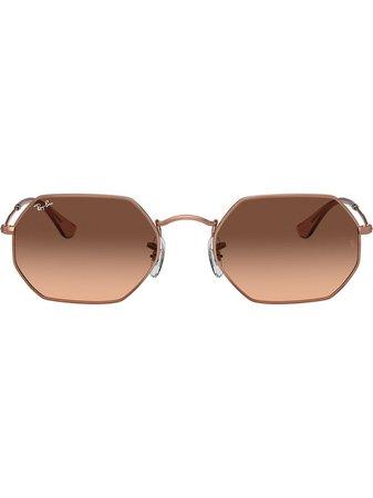 Ray-Ban RB3556N octagonal-frame Sunglasses - Farfetch