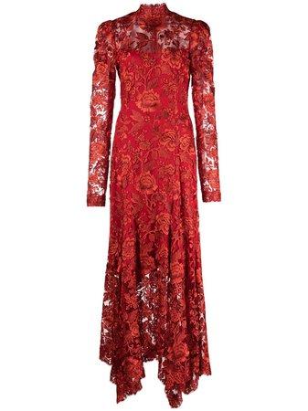 Tadashi Shoji Erdene handkerchief-hem dress - FARFETCH