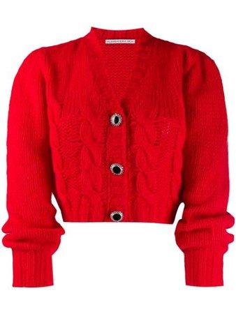 Alessandra Rich Cropped Knit Cardigan | Farfetch.com