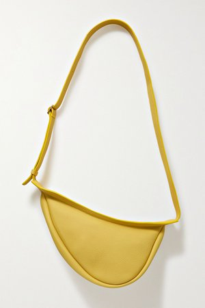 Chartreuse Slouchy Banana small textured-leather shoulder bag   The Row   NET-A-PORTER