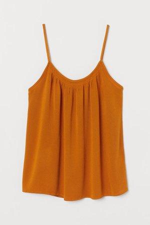 Crinkled Camisole Top - Dark orange - Ladies | H&M US
