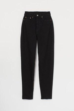 Mom Jeans - Black - Ladies | H&M US