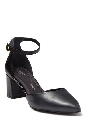 Rockport | Total Motion Salima Ankle Strap Pump - Wide Width Available | Nordstrom Rack