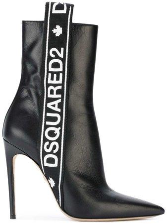 Dsquared2 Logo Stripe Ankle Boots - Farfetch