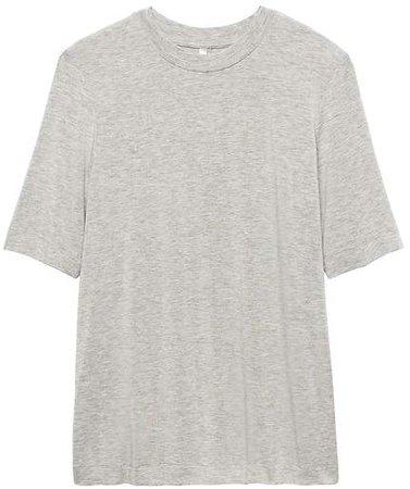Soft Stretch Elbow-Sleeve T-Shirt