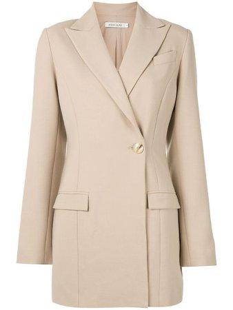 Anna Quan Sienna oversized blazer brown SIENNAJACKETNEWSAND - Farfetch