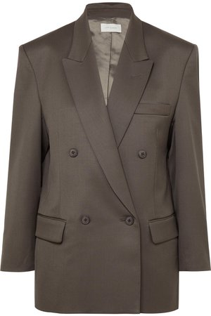 LOW CLASSIC | Oversized double-breasted wool-blend blazer | NET-A-PORTER.COM