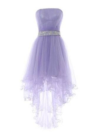 Cute Light Purple Tulle High Low Formal Dress 2019, Prom Dresses 2019, – BeMyBridesmaid